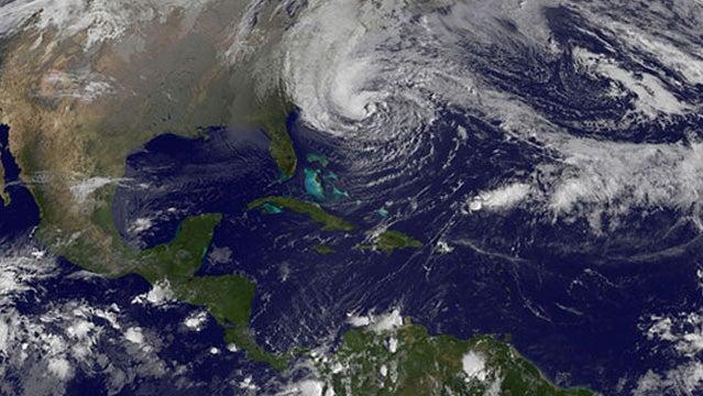 Hurricane Sandy expands.