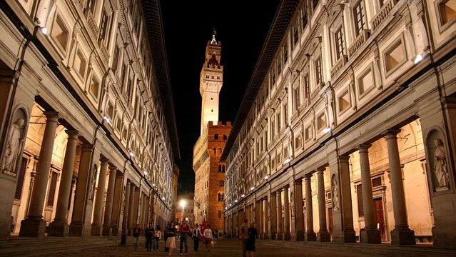 The Uffizi Gallery in Florence best christmas destinations out holiday travel