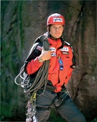 climbing sports mountaineering one one person people recreation