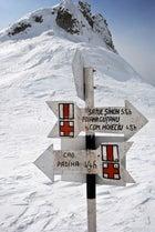 Bucegi Range signpost romania skiing