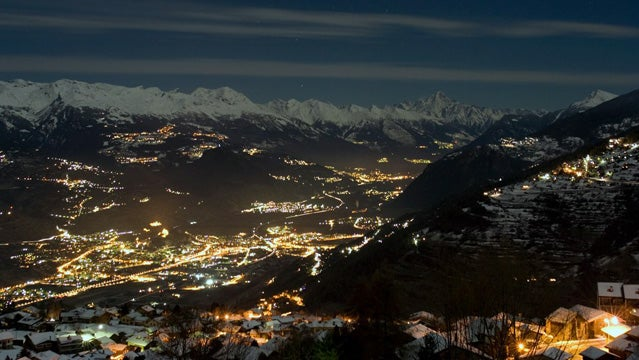 View over the valley from Nendaz, Switzerland.