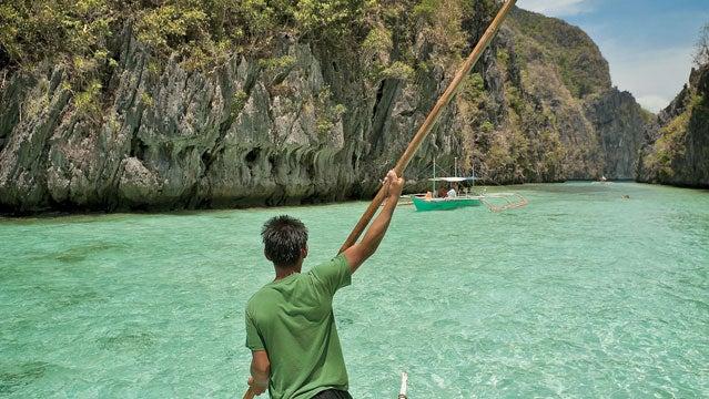 Island Palawan Philippines Pontoon boat tropical