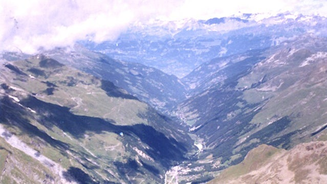 Panoramic view of the Val d'Anniviers.