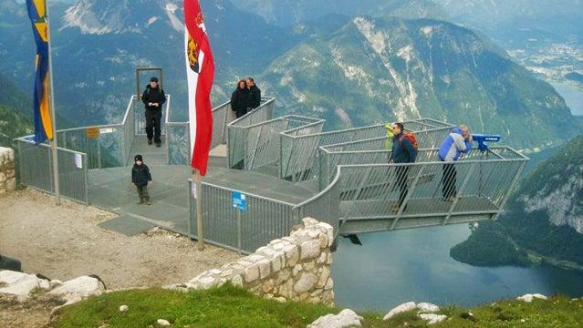 A free viewing platform on the Krippenstein.