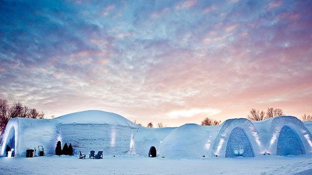 winter destinations montreal snow village quebec