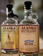 Alaska distillery glacier glaciers ice vodka bottled