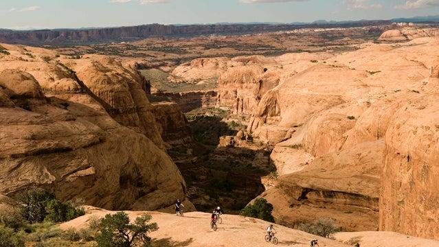 moab utah rock trails biking mountain biking