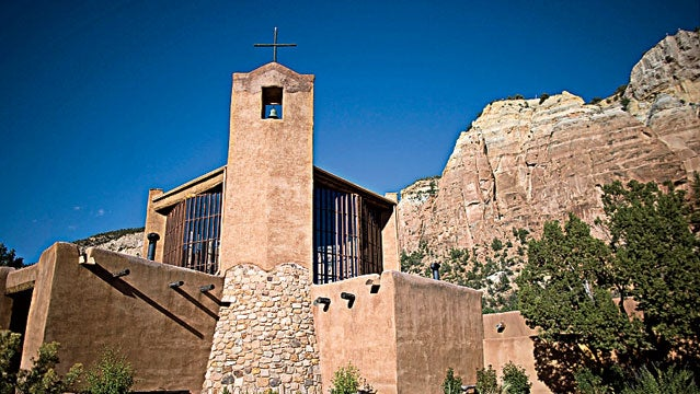 Vespers at Christ in the Desert Monastery outside Abiquiu, NM.