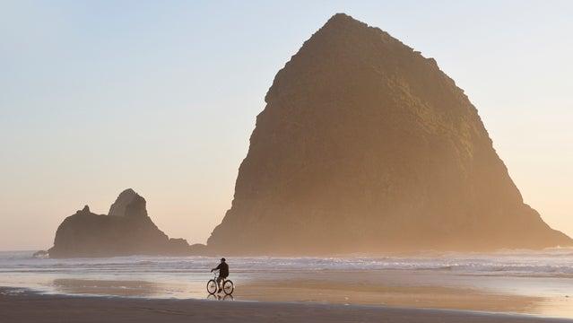 Sea stack Cannon Beach Oregon Coast USA