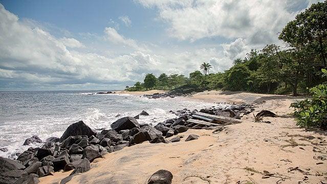 60s 70s Atlantic Ocean Color Image Day Outdoors Roberstport Sea West Africa beach coast liberia
