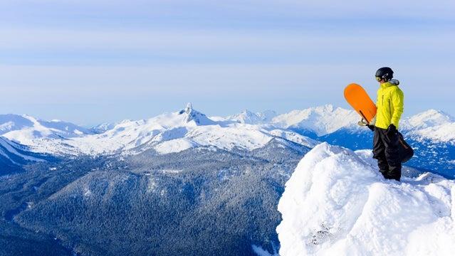 Sun Whistler peak winter whistler blackcomb british columbia