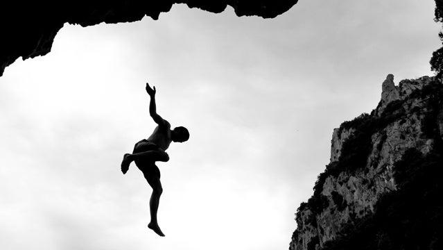 fallling cliff lost wilderness death