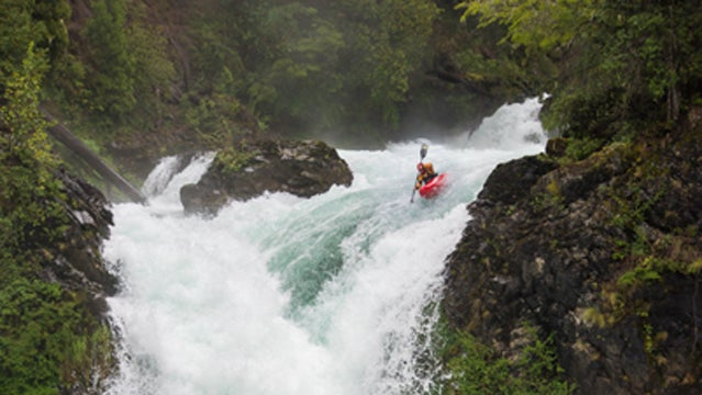 hucking waterfall kayaking japan