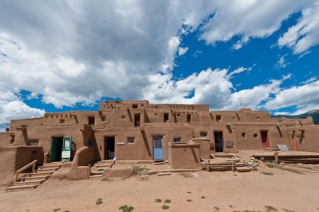 Adobe house in Taos Pueblo