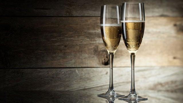 lexan champagne flute camping romance