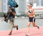 Australia's Mirinda Carfrae won the Ironman championship in 2010, placed second in 2011, third in 2012, and this year regained her place at first.