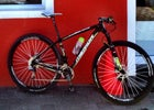 An XTR-equipped carbon Merida full-suspension bike that Heymans once raced in the Cape Epic