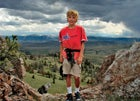 James Broyles, age nine, in the Absarokas, Wyoming