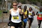 Ryan Hall leads the 2009 Boston Marathon