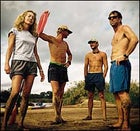 """Cherri Danger"" and the boys: from left, Cherri Briggs, Rod Wilson, Clinton Edwards, and Peter Stark"