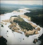The Lugenda River near Luwire Hunting Camp and the Niassa Reserve