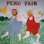 Six-year-old Sophie Caldwell (left) with sister Isabel (right) at the Peru Fair in 1996.