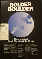 The promotional poster for the first Bolder Boulder, held in May 1979.