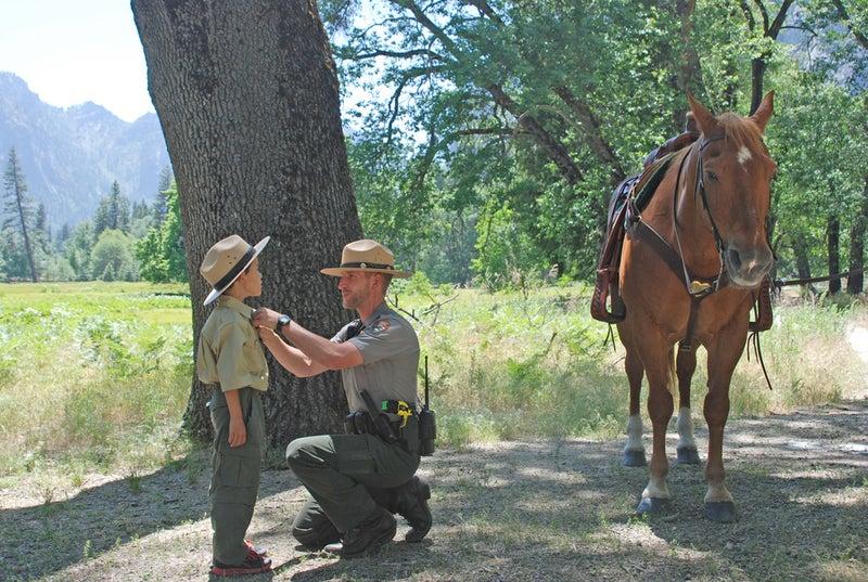 make-a-wish yosemite yosemite national park gabriel lawan-ying junior ranger ranger nature hike nature walk search and rescue injury park ranger Ed Visnovske simulation