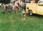 Martin, at age four, winning his first running trophy, in 1985.