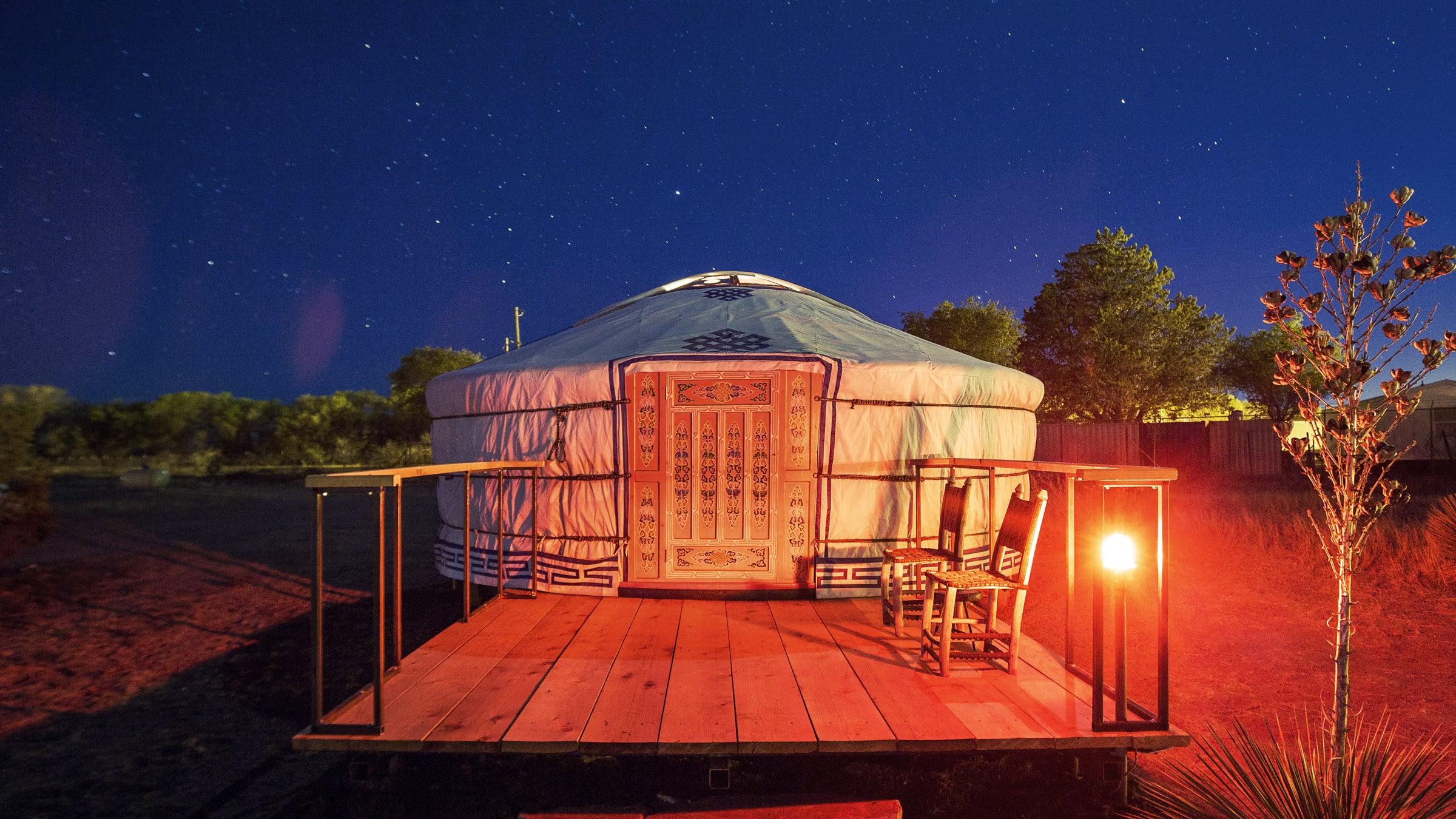 Rent A Yurt Under Texas Stars Outside Online