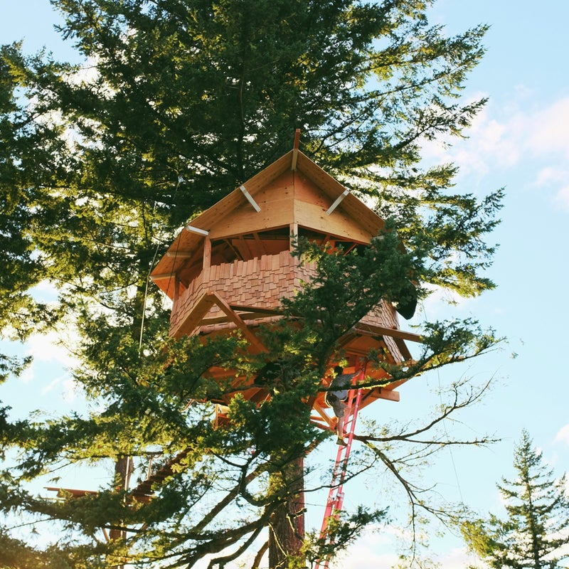 Foster Huntington #vanlife home is where you park it treehouse skatepark columbia river gorge shelter gear shed outside outside online outside magazine