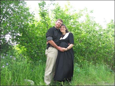 Elishaba with her husband, Mathew Speckels