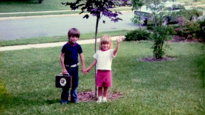 Chris and Carine McCandless outside their Annandale, Virginia, home.