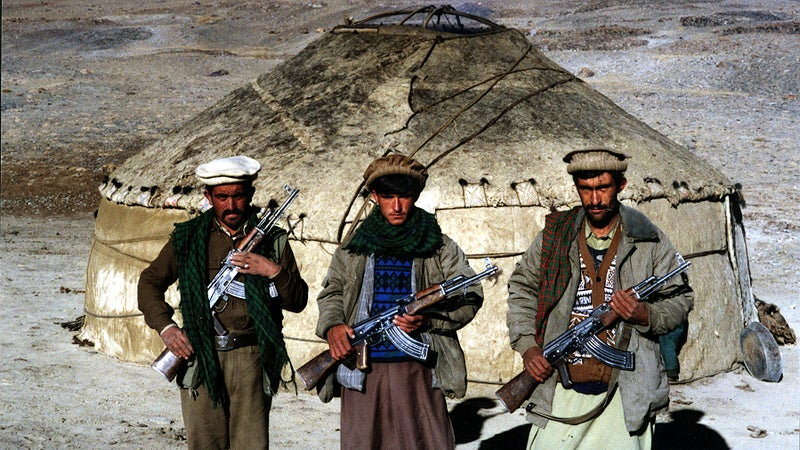 Islamic guerrillas allied with  northeastern Afghanistan June 2000.