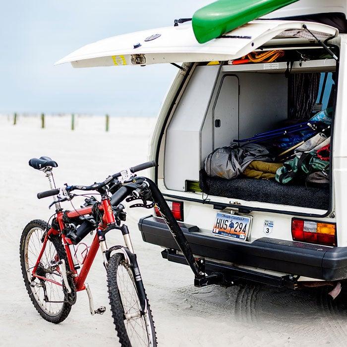 Fold-Down Bike Rack and Hitch