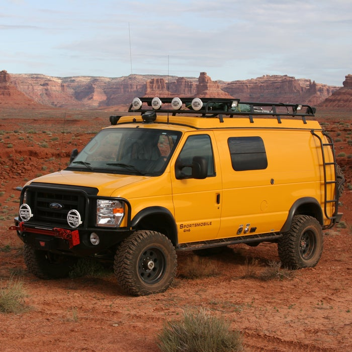 The gold standard of campers, Sportsmobile (starting at $65,000) has been turning vans—from Ford, Chevy, Mercedes, you name it—into luxury travel homes for 52 years. Trick yours out with generators, awnings, roof racks, sound systems, kitchens, bathrooms, and bedrooms—the sky's the limit, as long as all your add-ons fit inside the van.  According to the company, 98 percent of Sportsmobile owners use their van as an everyday vehicle. (Gas mileage ranges from 12 to 20 miles per gallon.) Want more info? There are more than 103,000 Sportsmobile forums. But you'll only get an invite to their 4x4 rallies if you own one.