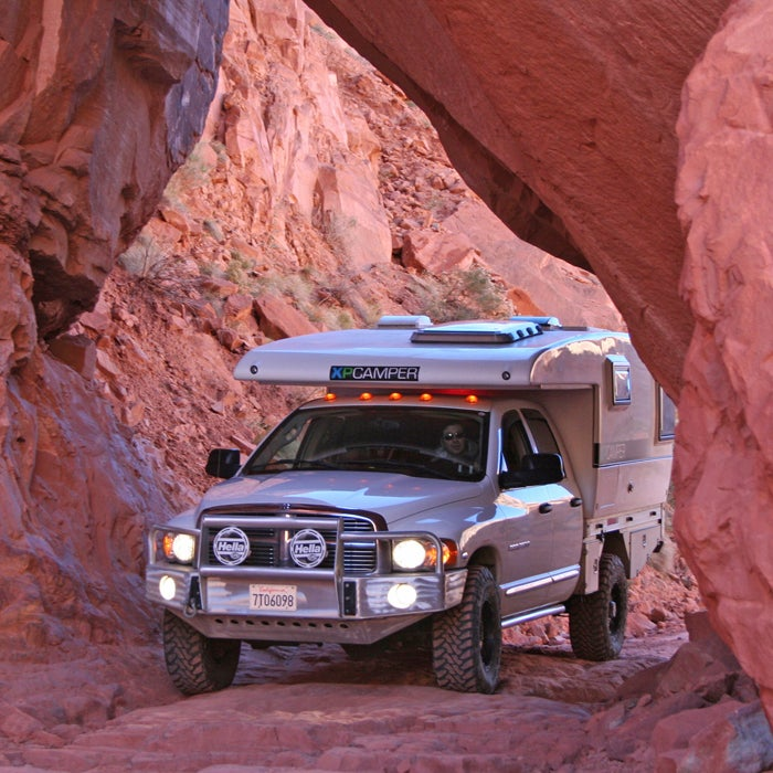 This pop-up truck-bed camper (from $33,000 to $75,000) is designed for backcountry adventures. With the push of a button, the top electronically expands in less than a minute. The seamless monocoque shell, light and strong, is made from a fiberglass-reinforced carbon-fiber sandwich over closed-cell foam.   That construction makes this camper warmer and quieter than its competitors, but it's still ready for rough terrain. Unlike traditional campers, there's no wood, staples, caulk, or chopped-fiberglass insulation to fail during off-road jostling.