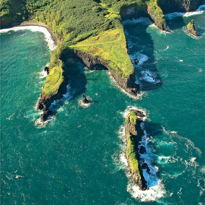 aerial beautiful blue bright Cliff coast day geologic gorgeous green Hana Hawaii island Islands Art islet landscape lava rock Location Art north northern ocean Pacific Peace peninsula rock rocky Ron Dahlquist rugged Seacliffs serenity shore shoreline Sky stock Tropical View from above Volcanic