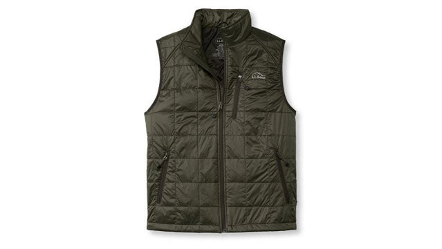 LL Bean Ascent Packaway insulated vests outside gear guy bob parks