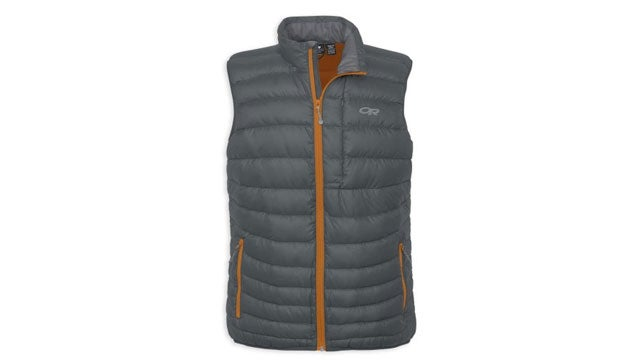 Outdoor Research Mens Transcend insulated vests outside gear guy bob parks