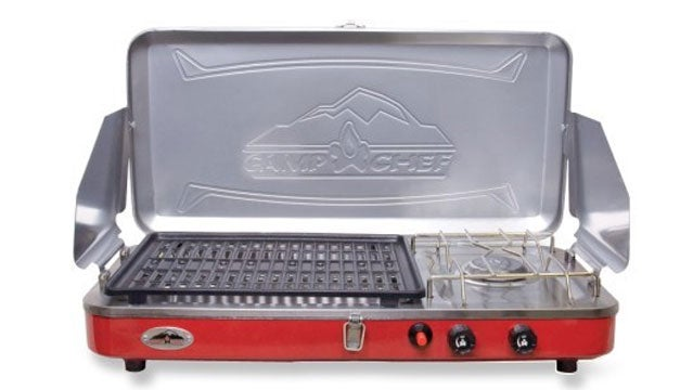 Camp Chef Rainier 2 Burner Gril camping grills cooking cookout bbq outside gear guy