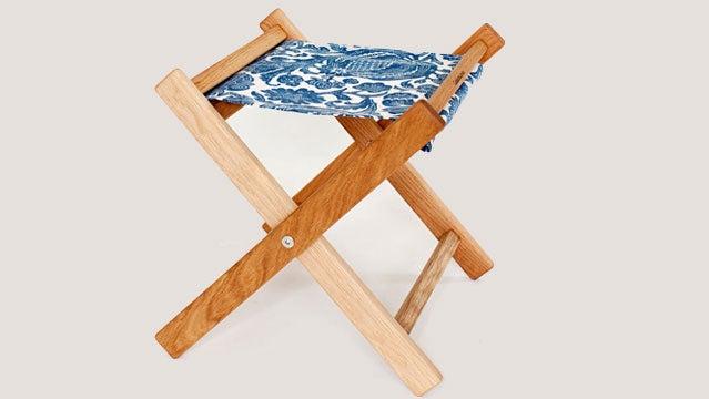 The Gallant and Jones oak camp stool.