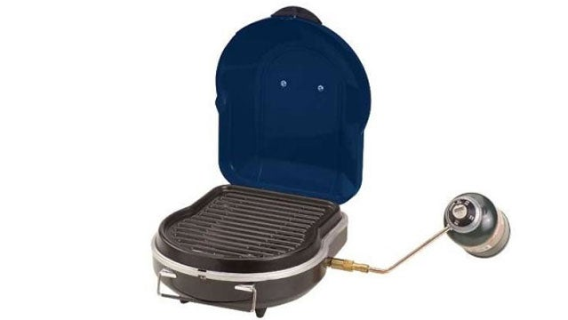 Coleman Fold N Go Grill camping grills cooking cookout beach trips bbq outside gear guy