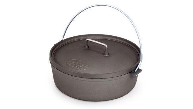 GSI 12-Inch Hard Anodized Dutch outside gear guy bob parks dutch ovens camping ovens