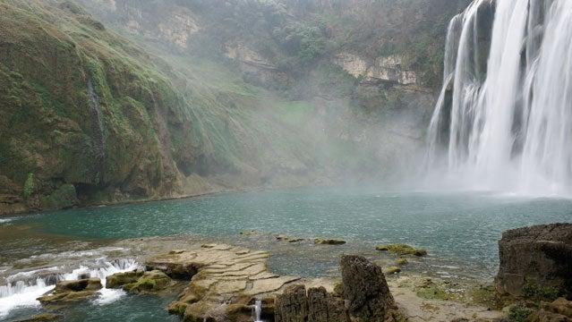 china travel huanggoushou waterfalls rivers