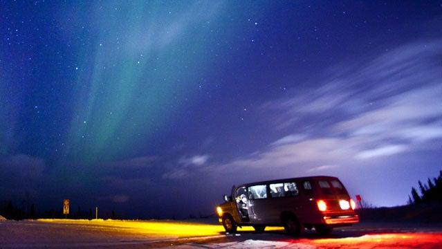 aurora borealis alaska russia canada northern lights travel