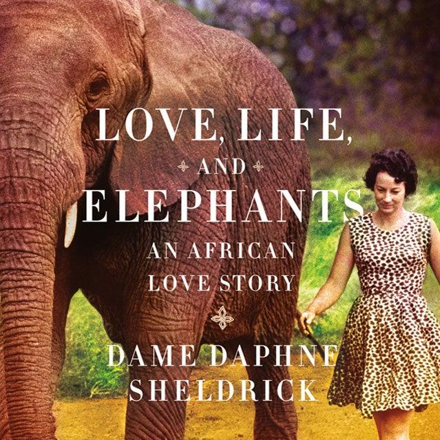 Daphne Sheldrick and an elephan