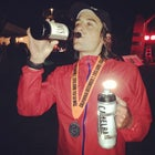 The author after finishing TNF 50.