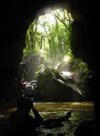 Black water rafting the Waitomo Caves in New Zealand.