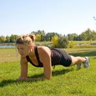 Planks are good for you—and easy to do when the kids are around.